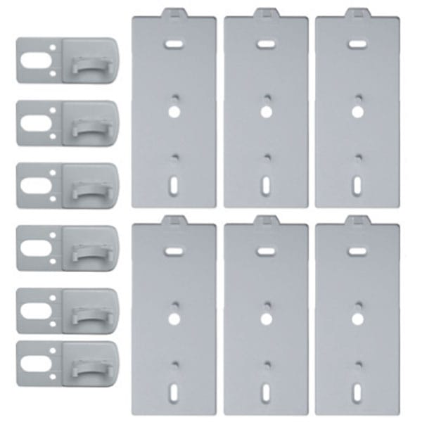 Pack of 6 Brackets & 6 Pear Push Lead Clips
