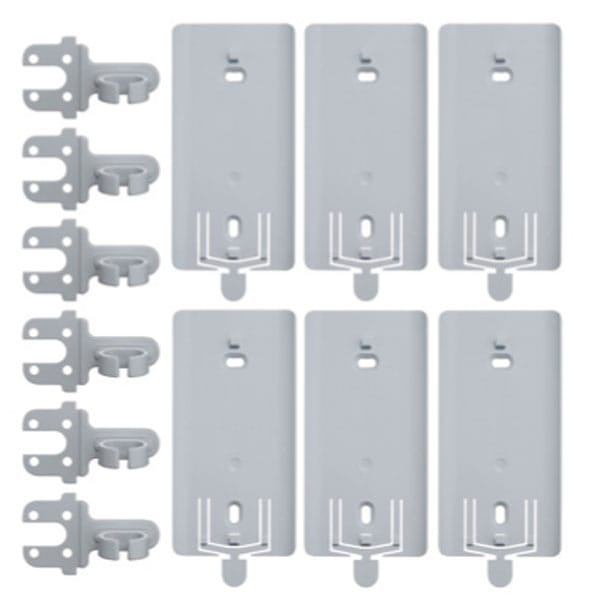 Pack of 6 Brackets & 6 IP67 Pear Push Lead Clips