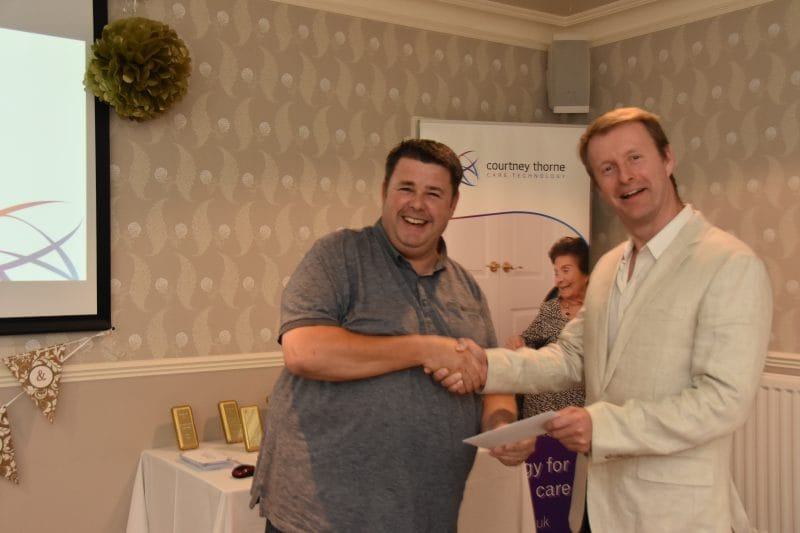 Engineer Mike Rose has been recognised for working at Courtney Thorne for 10 years