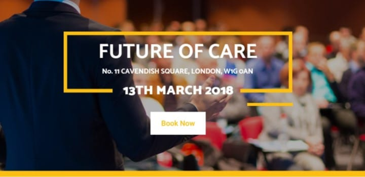 Courtney Thorne attending Future of Care Conference in London